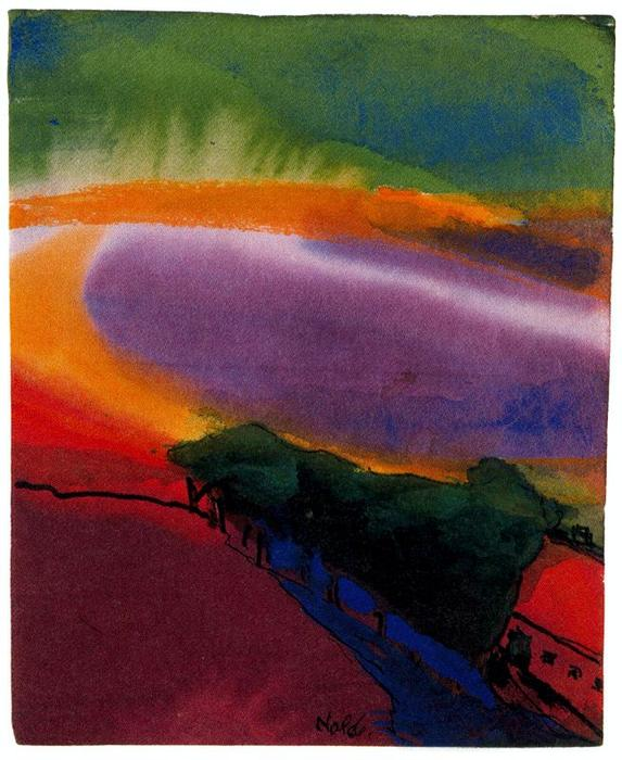 Landscape (Red-Yellow-Green) by Emile Nolde (1867-1956, Germany)
