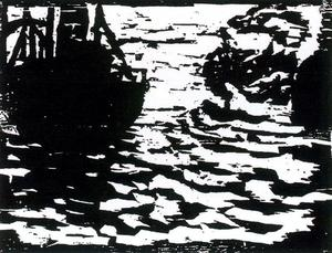 Emile Nolde - Large boats and small steam
