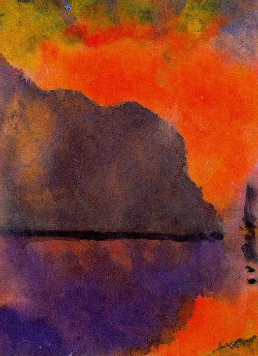 Life by the Sea (in Evening Light) by Emile Nolde (1867-1956, Germany) | ArtsDot.com