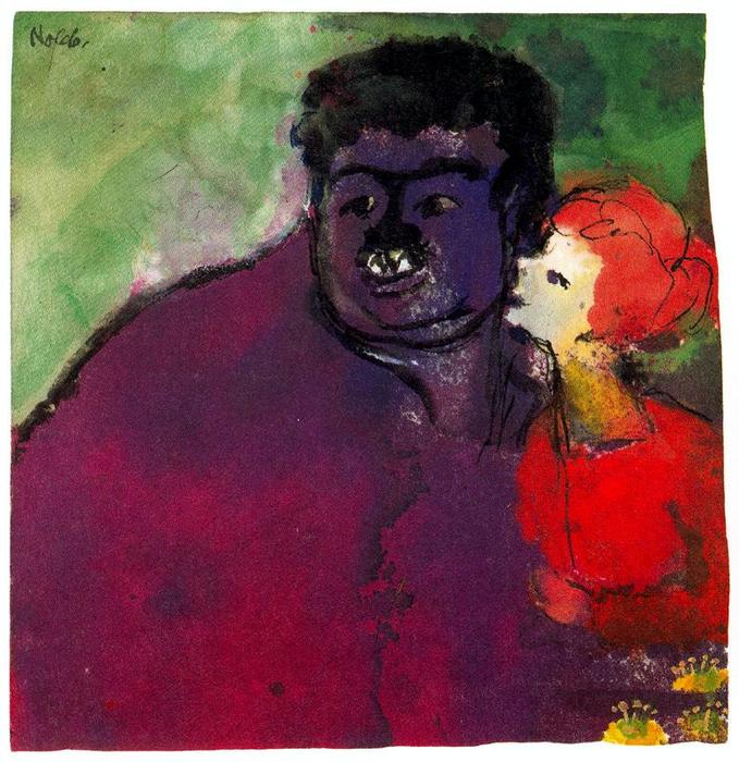 Mismatched Couple by Emile Nolde (1867-1956, Germany) | Museum Quality Reproductions | ArtsDot.com