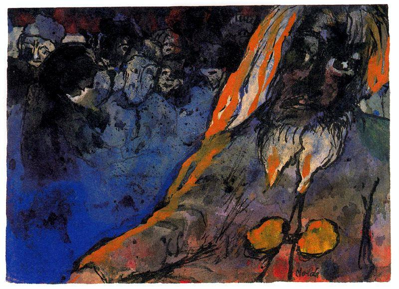 Mountain Giant by Emile Nolde (1867-1956, Germany) | Painting Copy | ArtsDot.com