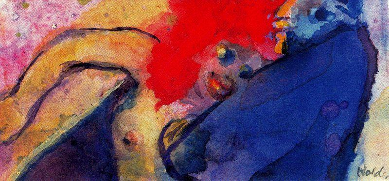Old Man Nude Girl by Emile Nolde (1867-1956, Germany) | Museum Art Reproductions | ArtsDot.com