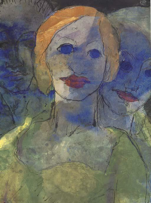 Phantasie by Emile Nolde (1867-1956, Germany)