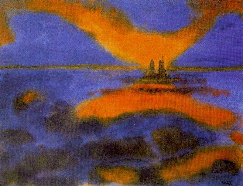 Red clouds 1 by Emile Nolde (1867-1956, Germany) | Oil Painting | ArtsDot.com