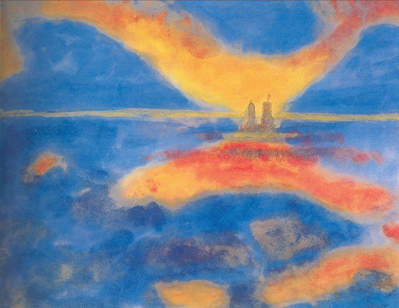Red Clouds by Emile Nolde (1867-1956, Germany) | Museum Art Reproductions | ArtsDot.com