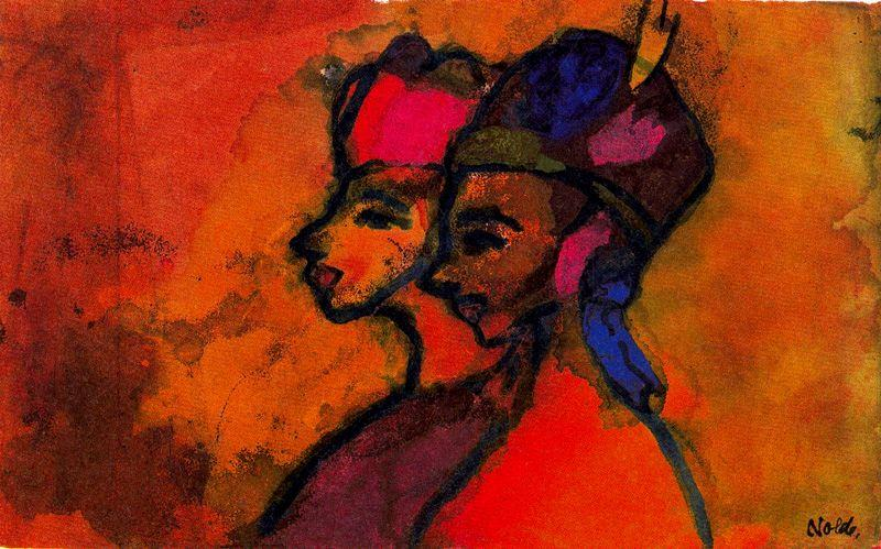 Remote Girls by Emile Nolde (1867-1956, Germany)