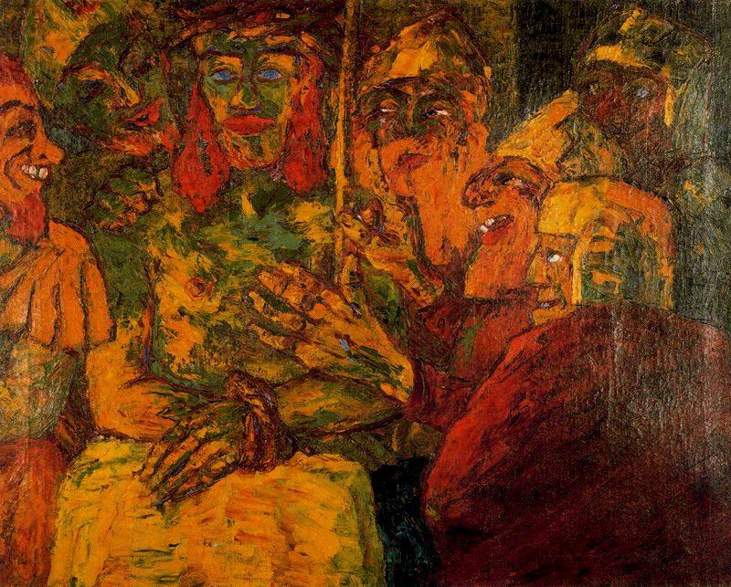Reproach of Christ by Emile Nolde (1867-1956, Germany) | Museum Art Reproductions | ArtsDot.com