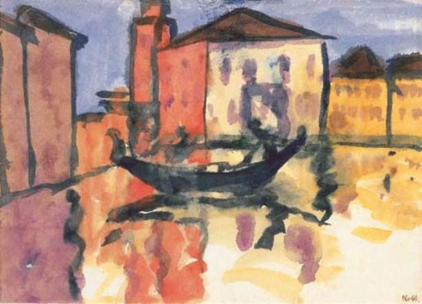 Scene from Venice by Emile Nolde (1867-1956, Germany)