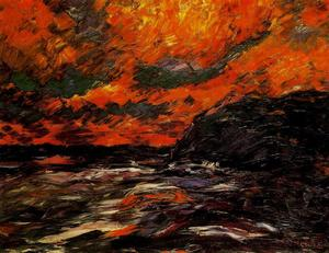 Emile Nolde - Sea in autumn IX