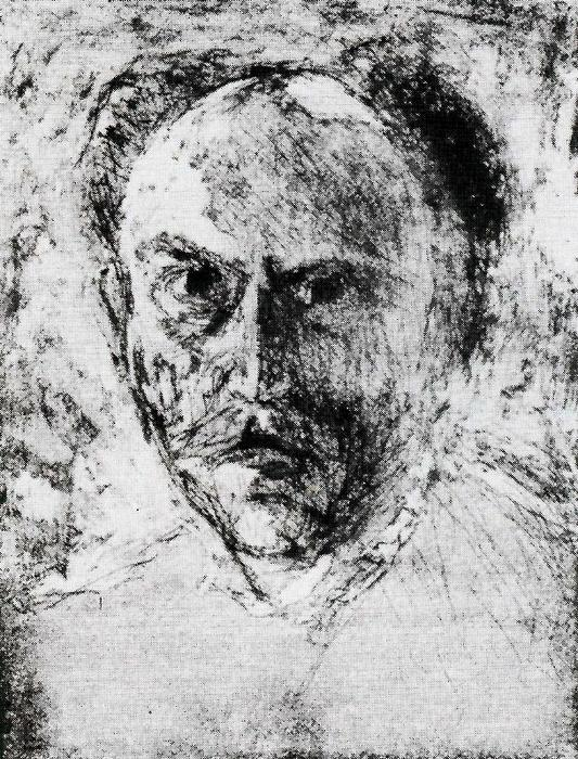 Self-portrait 1 by Emile Nolde (1867-1956, Germany)