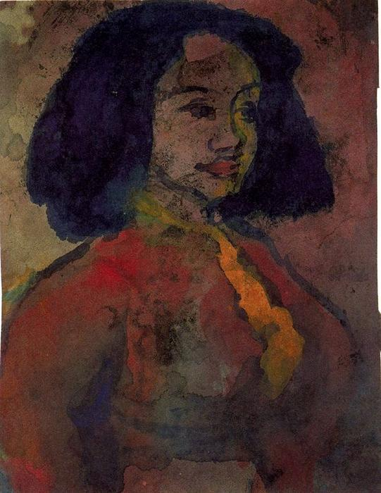 Spanish Woman by Emile Nolde (1867-1956, Germany)