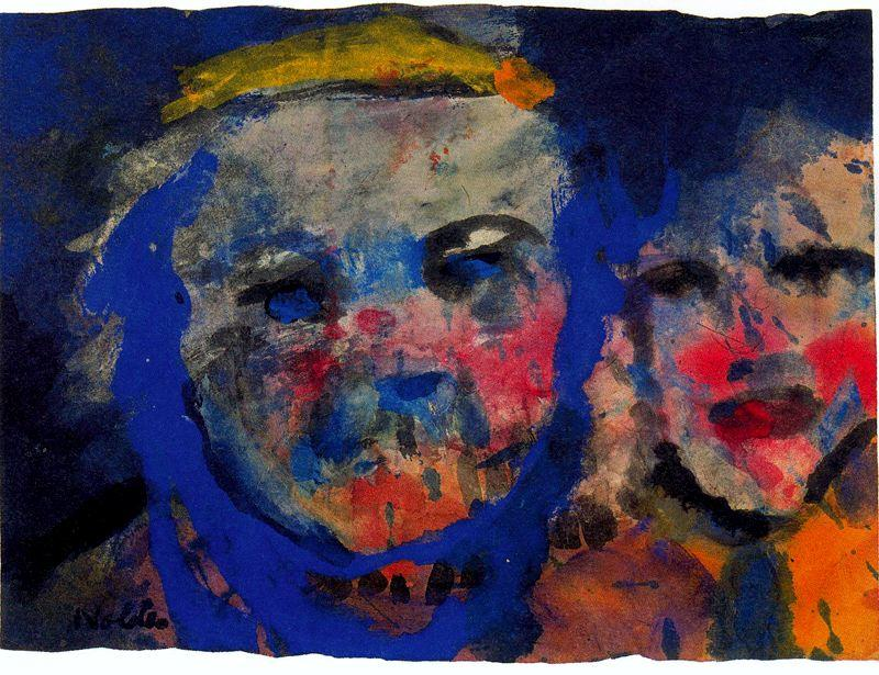 Strange Couple by Emile Nolde (1867-1956, Germany)