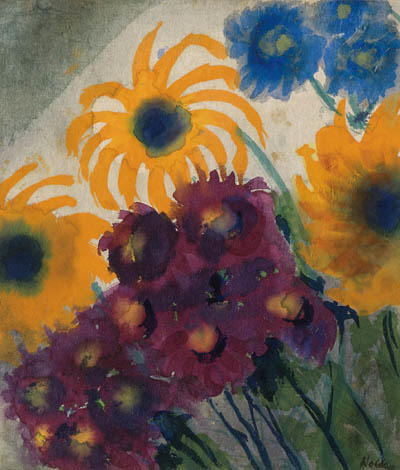 Summer flowers 2 by Emile Nolde (1867-1956, Germany)