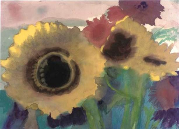 Sunflowers 1 by Emile Nolde (1867-1956, Germany)