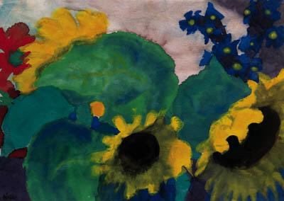 Sunflowers 3 by Emile Nolde (1867-1956, Germany)