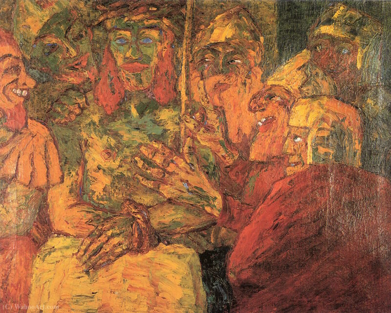 The Mocking of Christ, 1909 by Emile Nolde (1867-1956, Germany) |  | ArtsDot.com