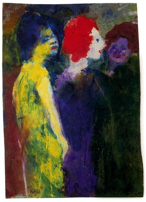 The Redhead by Emile Nolde (1867-1956, Germany)