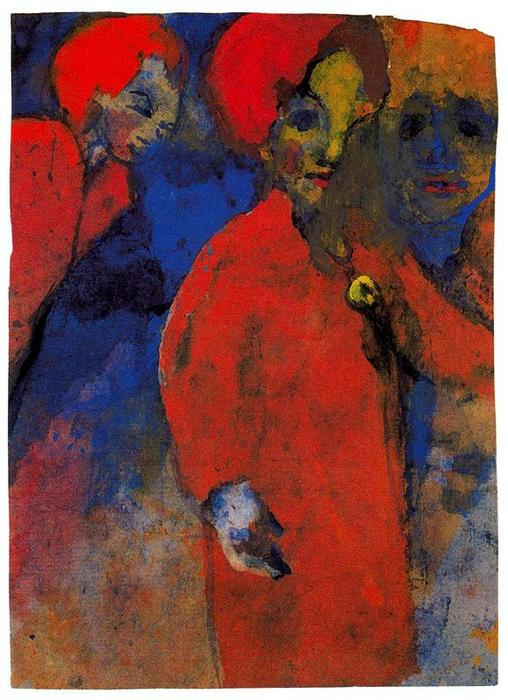 Three Women by Emile Nolde (1867-1956, Germany)