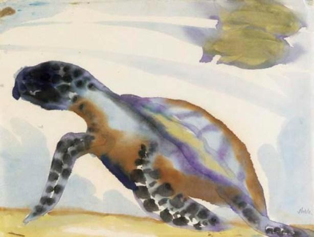 Turtle by Emile Nolde (1867-1956, Germany) | Oil Painting | ArtsDot.com