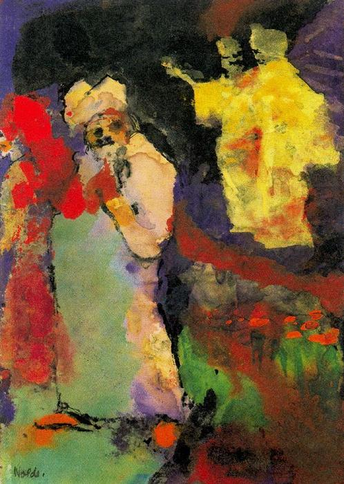 Two Couples (in a Park) by Emile Nolde (1867-1956, Germany)