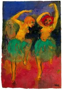 Emile Nolde - Two Dancers (redheard and Blonde)