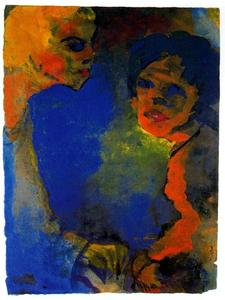 Emile Nolde - Two Women against a Blue Sky