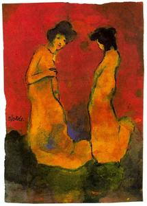 Emile Nolde - Two Women in Long Gowns
