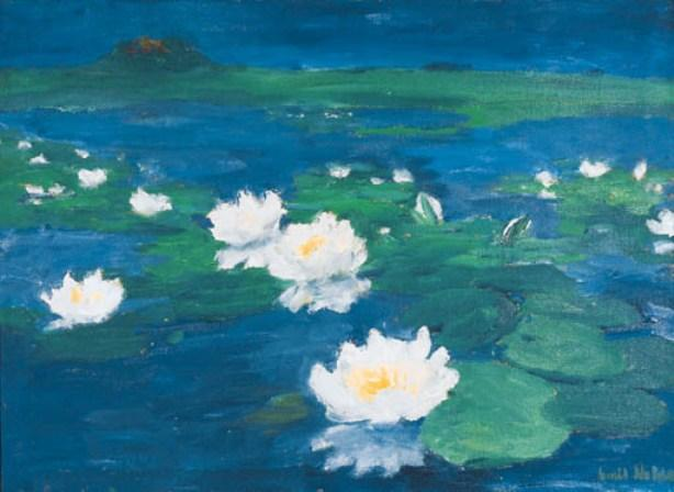 Waterroses by Emile Nolde (1867-1956, Germany)