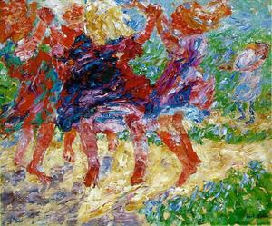 Emile Nolde - Wildly Dancing Children