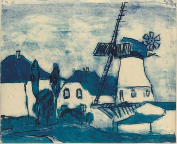 Windmill by Emile Nolde (1867-1956, Germany)