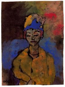 Emile Nolde - Woman (in a Blue Hat)
