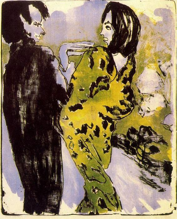 Young Couple 1 by Emile Nolde (1867-1956, Germany)