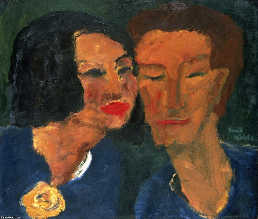 Young Couple by Emile Nolde (1867-1956, Germany) | Painting Copy | ArtsDot.com