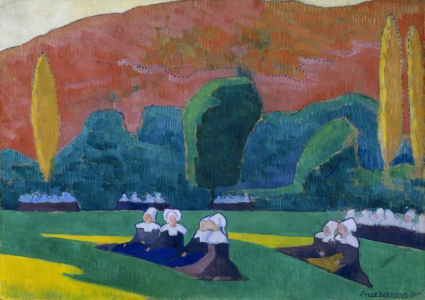 Breton Women at Prayer by Emile Bernard (1868-1941, France)