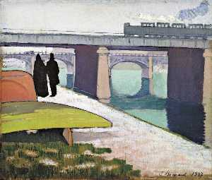 Emile Bernard - Iron Bridges at Asnières
