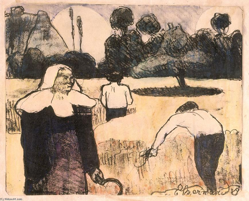 Le moissonneur (The Harvester) by Emile Bernard (1868-1941, France)