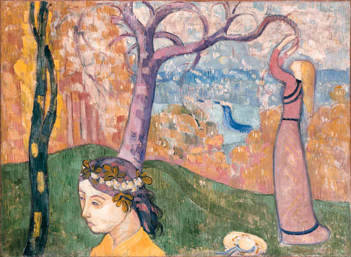 Madeleine at the tree of love by Emile Bernard (1868-1941, France) | Art Reproduction | ArtsDot.com