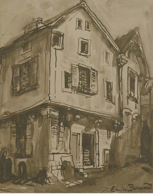 The house on the corner by Emile Bernard (1868-1941, France)