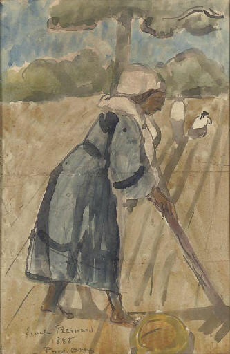 Working bretones by Emile Bernard (1868-1941, France)