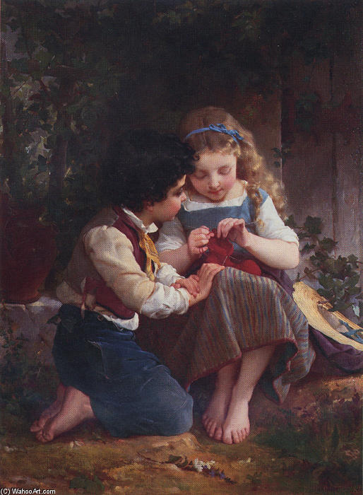 A Special Moment by Emile Munier (1840-1895, France) | Museum Art Reproductions | ArtsDot.com