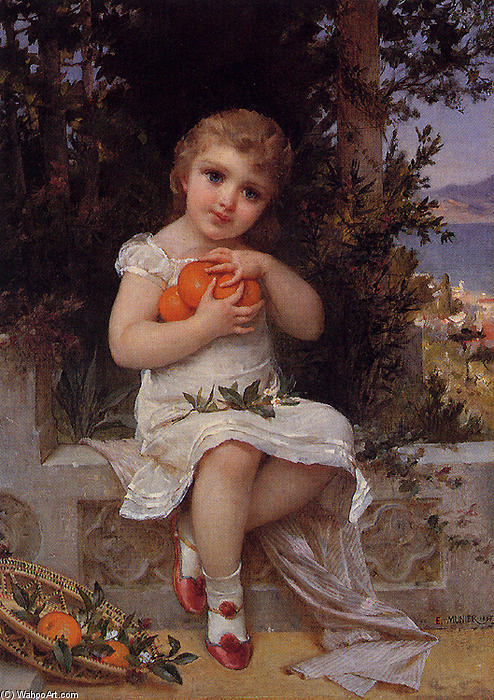 Blossoms by Emile Munier (1840-1895, France)