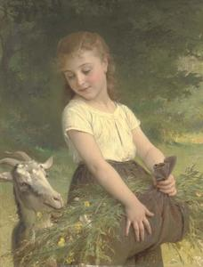 Emile Munier - Gathering wild flowers