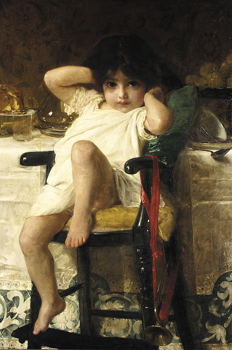 In Penance by Emile Munier (1840-1895, France)