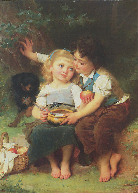 Share and Share Alike by Emile Munier (1840-1895, France)