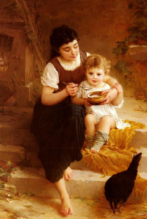 The Big Sister by Emile Munier (1840-1895, France)
