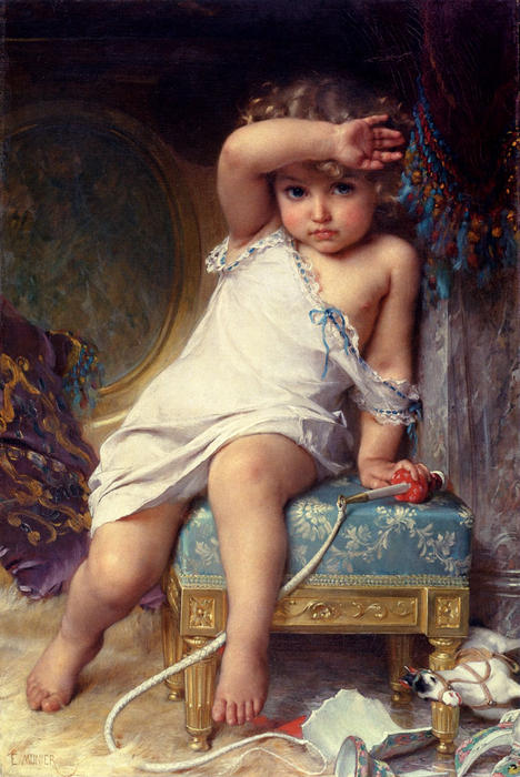 The Broken Vase by Emile Munier  (order Fine Art Poster on canvas Emile Munier)