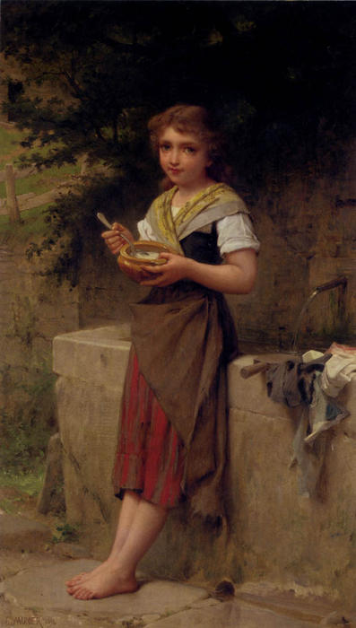 The Young Farmers by Emile Munier (1840-1895, France) | Museum Art Reproductions | ArtsDot.com