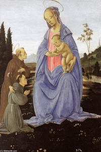 Filippino Lippi - Madonna with Child, St An..