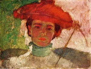 Frank Duveneck - Girl with Parasol