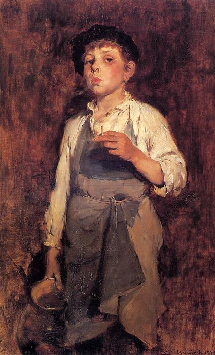 He Lives by His Wits, Oil On Canvas by Frank Duveneck (1848-1919, United States)